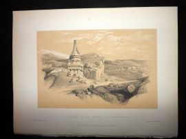 David Roberts Holy Land 1887 Print. Absalom's Pillar Valley of Jehoshaphat